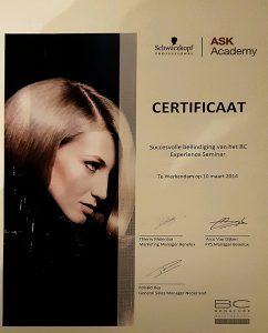 Certificaat haarverzorging