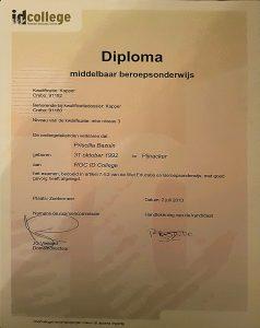 Diploma MBO kappersopleiding