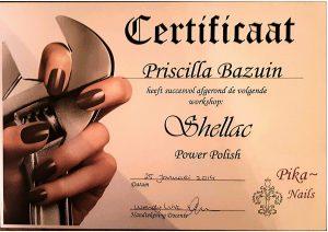 certificaat shellac via Pika Nails