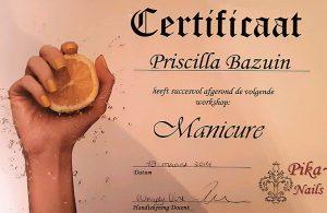 certificaat voor manicure